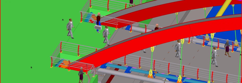 Steel Pedestrian Bridge Behind Kocaeli Fair Area Implementation Project