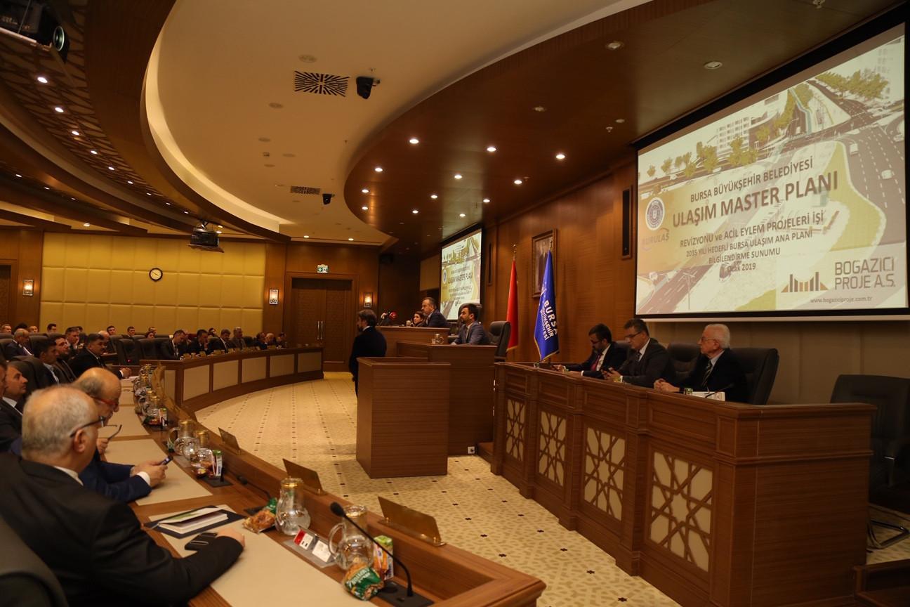 Bursa Ulaşım Ana Planı Büyükşehir Belediye Meclisinde