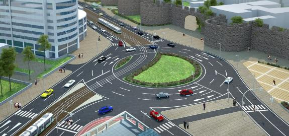 Diyarbakır Kent İçi Raylı Sistem Hattı Ön ve Kesin Projeleri