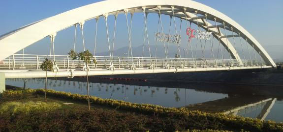 Steel Pedestrian Bridge Behind Kocaeli Fair Area Implementation Project